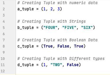 Creating tuple in Python