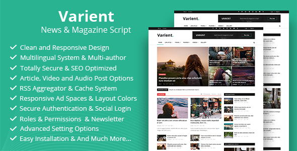 Varient v1.9–News and Magazine Script Nulled