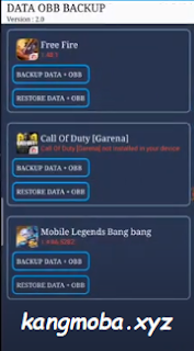APK Backup Data OBB (Mobile Legends, Free Fire, Call Of Duty) Terbaru