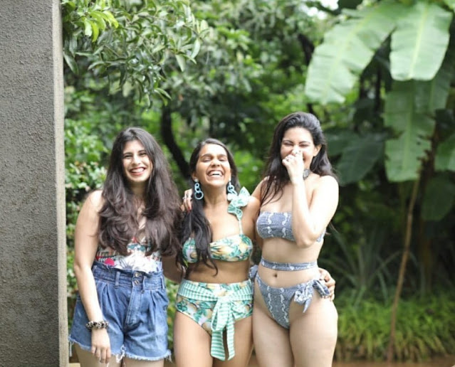 Amyra Dastur Enjoying With Friends in Hot Bikini Shows Off Her Sexy Body Navel Queens