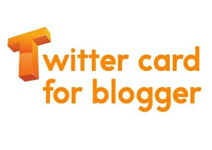 Twitter card for blogger