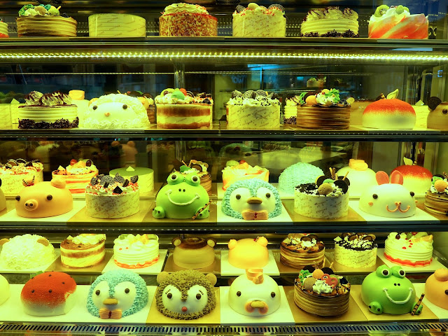 Bakery cake display in Seomyeon, Busan, South Korea