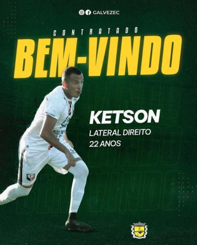 Galvez acerta contratação de lateral-direito, Ketson de Felipe Guerra, ex-Santa Cruz-RN