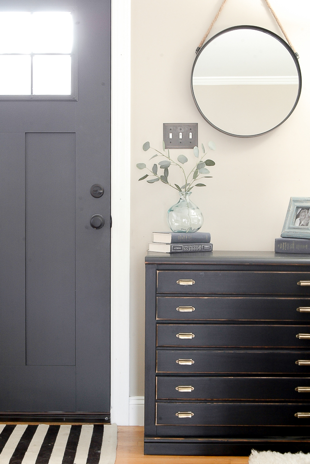 Modern farmhouse entryway, contrast, unique finds
