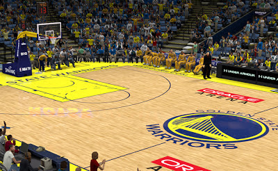 NBA 2K13 Golden State Warriors Court Patch
