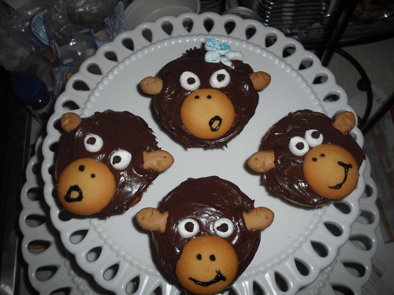 Polka Dots And Recipes Monkey Cupcakes