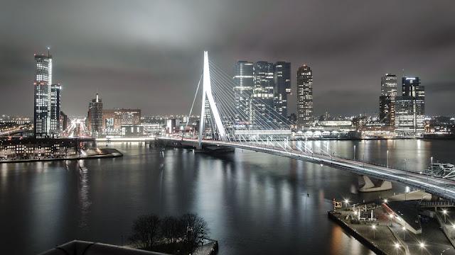Radioreise Podcast in Rotterdam, Erasmusbrücke
