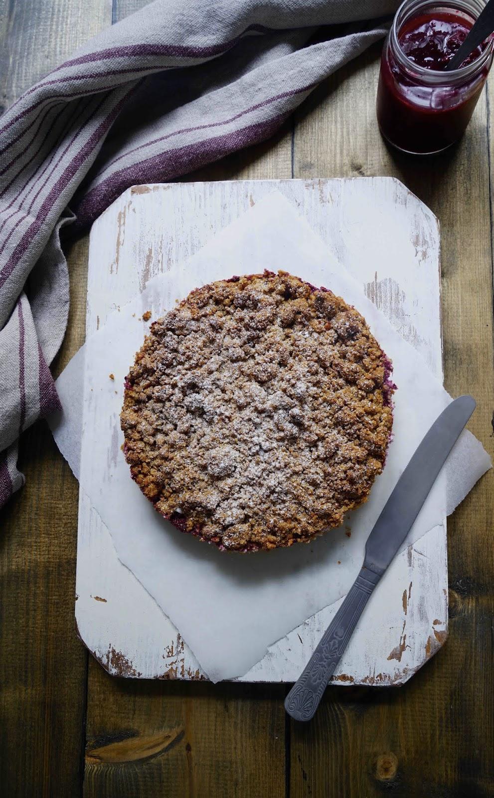 tarte fruits d'été , ricotta , crumble , dessert super facile et rapide