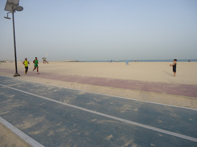 rubber lanes at Jumeirah Open Beach