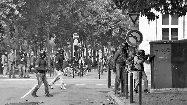 Nantes, jour de manifestation, 2017, Emeric Cloche