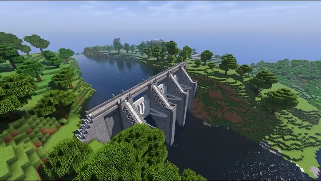 Cara Membuat Bendungan di Minecraft, Crafting, Cara Main Minecraft,