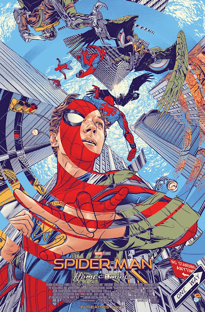 Cinemark Exclusive Spider-Man: Homecoming Movie Poster by Martin Ansin x Mondo