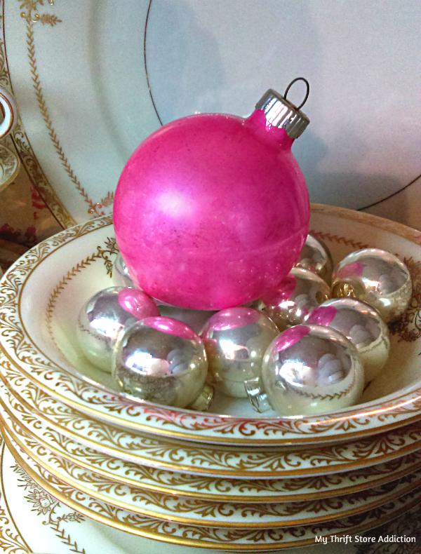 vintage ornament vignettes