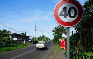 السرعة محدد في 40 كلم في الساعة