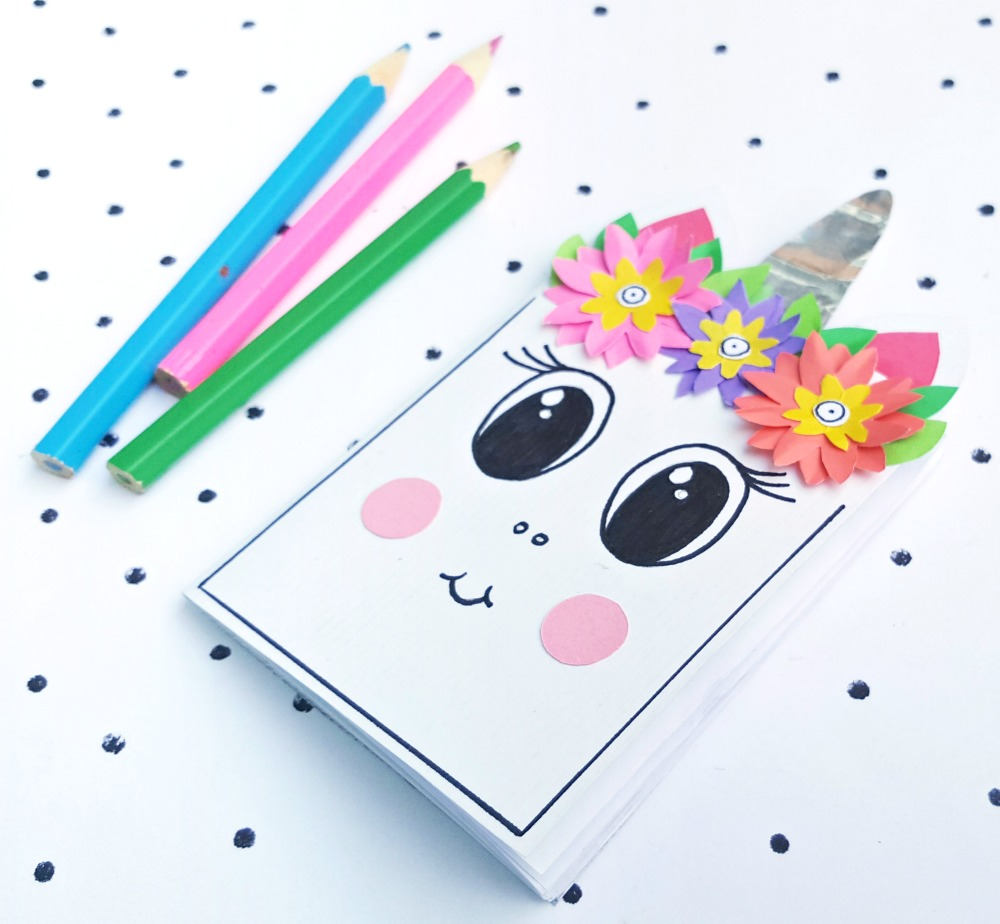 paper unicorn craft with template
