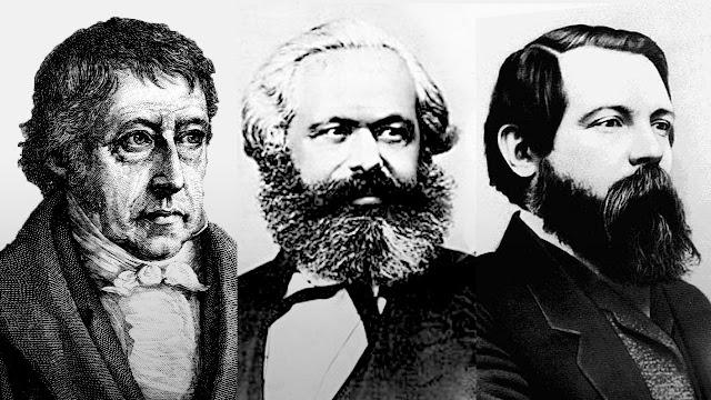 Hegel, Marx e Angels