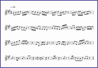 gambar notasi not 1/8 dan 1/16 pada not balok