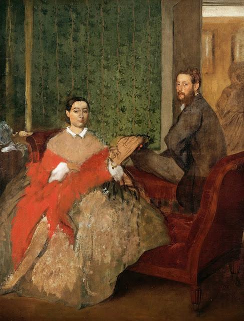 Эдгар Дега - Эдмонд и Тереза Морбилли (1865-1866)