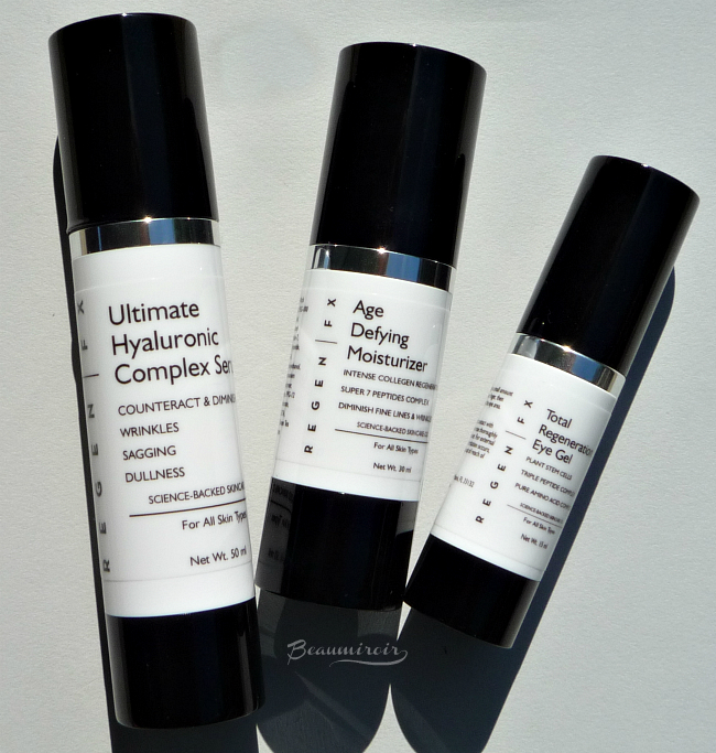 RegenFX Skincare System: Ultimate Hyaluronic Complex Serum, Age Defying Moisturizer and Total Regeneration Eye Gel reviews