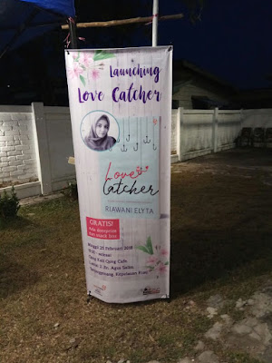 blogger tanjungpinang launching novel love catcher
