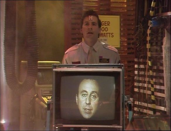 Rimmer and Holly in Red Dwarf II