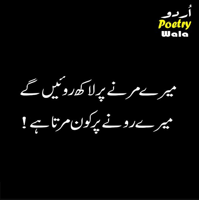 New urdu Sad Poetry 2020 / Mery Marny Pr Lakh Roay Ge