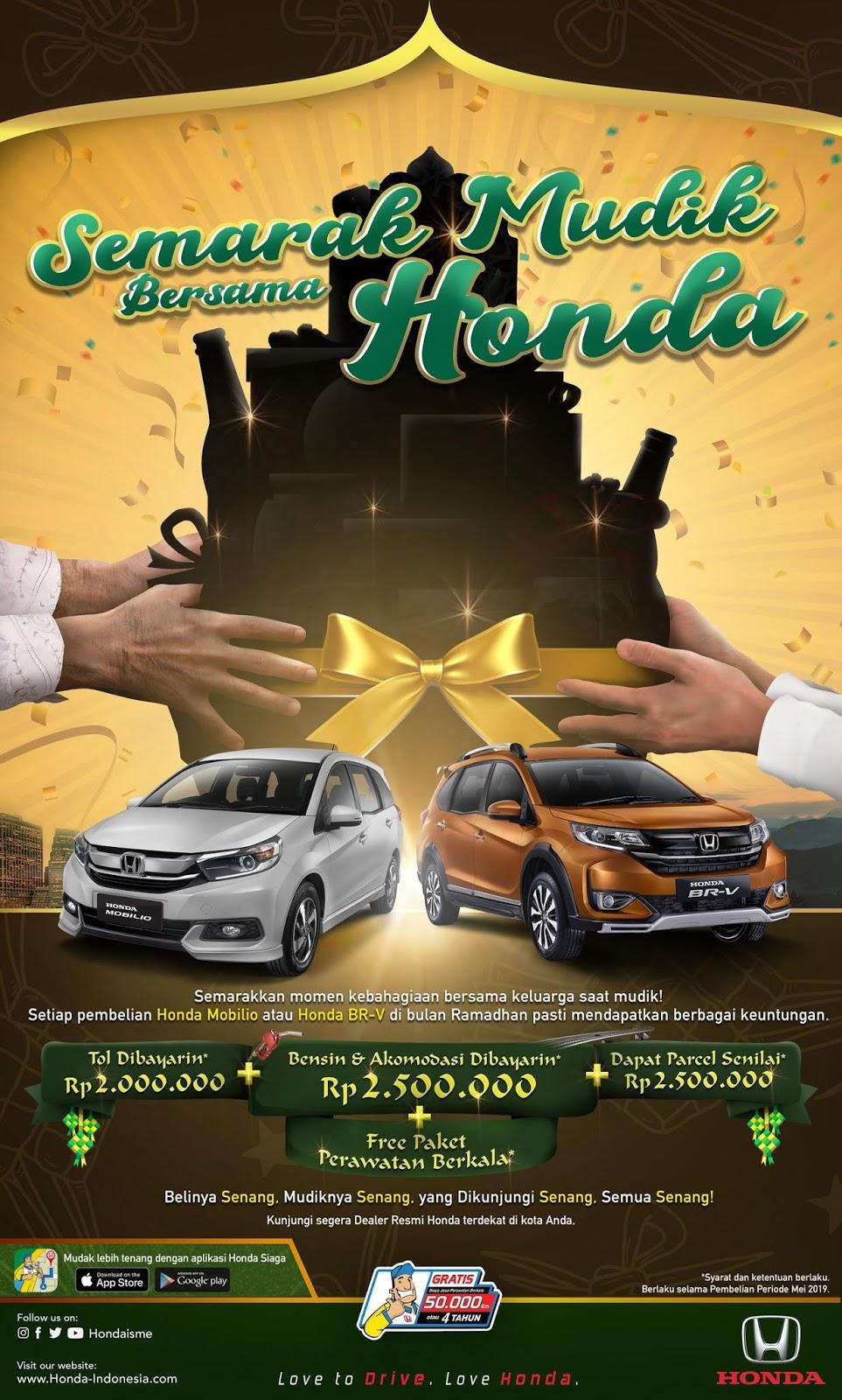Honda Tawarkan Program Spesial unhtuk Mudik Tahun ini