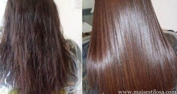 hidratação para cabelos com chapinha
