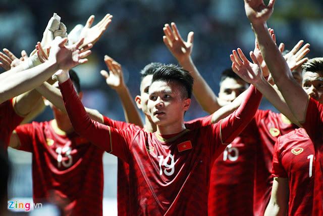 ĐT Việt Nam tiếp tục thể hiện phong độ ấn tượng khi đánh bại Thái Lan tại King's Cup. Ảnh: Minh Chiến.