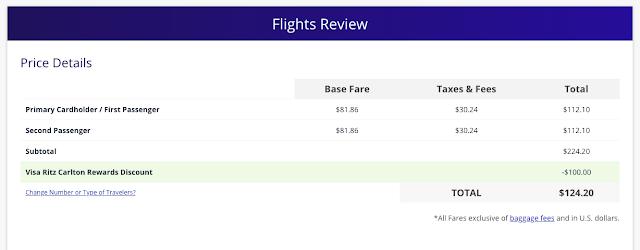 $100 Ritz-Carlton Airfare Companion Discount