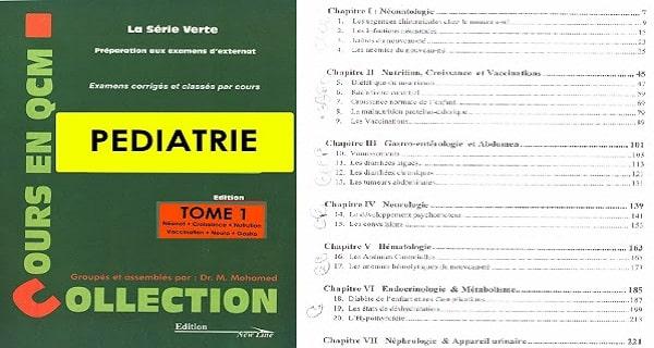 Télécharger la Série Verte Pédiatrie PDF gratuit Tome 1