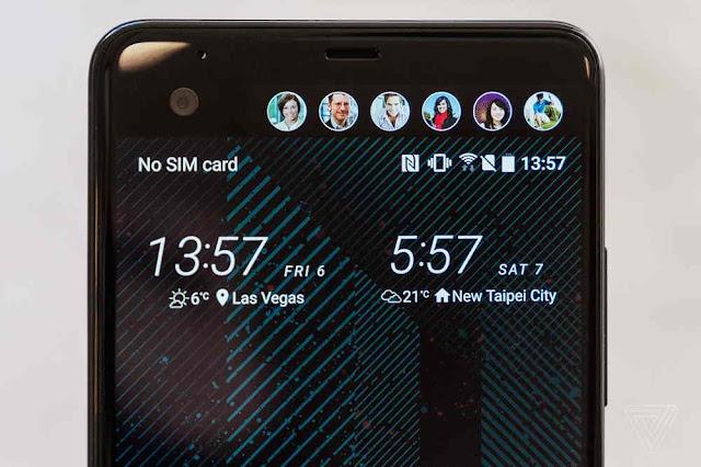 Design layar HTC U Ultra