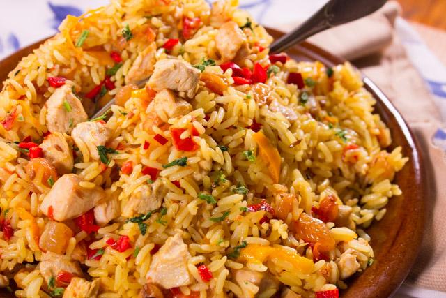 أرز ,أزعر ,بالدجاج