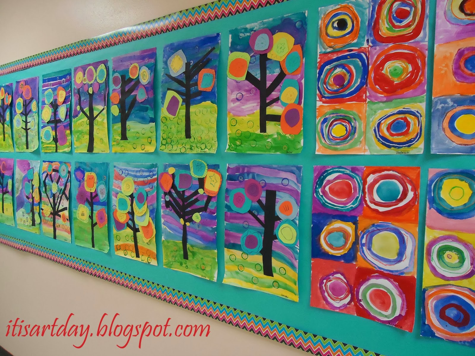 It S Art Day Displayed Kandinsky Concentric Circle Art