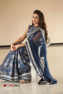 Actress Manjusha Pictures in Saree at Srirastu Subhamastu Song Launch  0192.JPG
