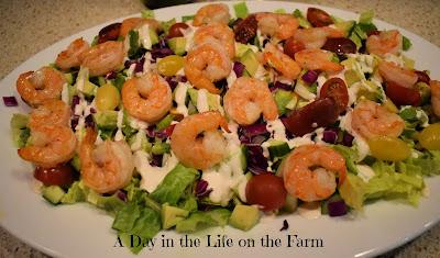 Avocado Shrimp Chopped Salad