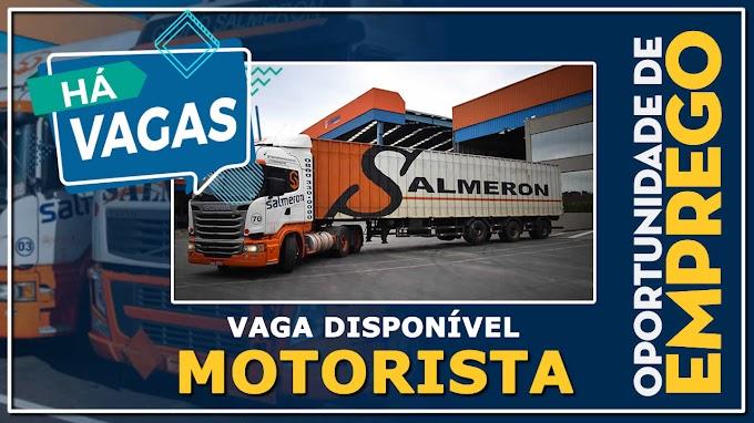 Salmeron transportes abre vagas para Motorista