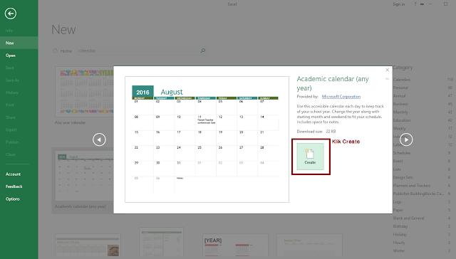 Cara Membuat Kalender di Microsoft Excel