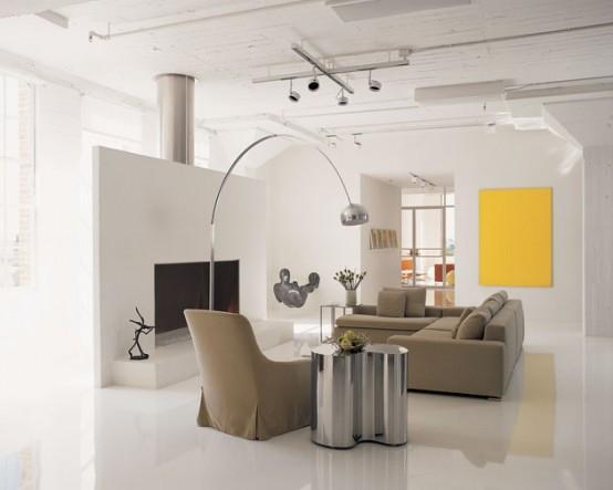 minimalist modern decorating decor interior living room loft apartment poteet elegant architects designs yellow collectors ultra furniture interiors minimal wall