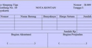 Pengertian Nota Faktur Dan Kuitansi