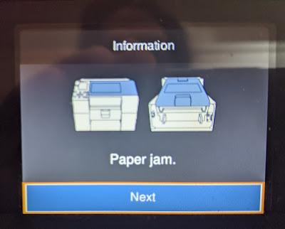 C6000 Paper Jam Error