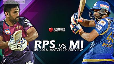 RPS vs MI Match Prediction IPL 2017