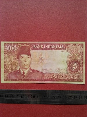 100 rupiah tahun 1960
