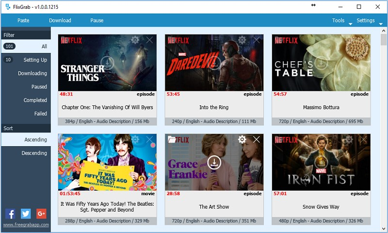 FlixGrab  Premium Version 5.1.3 - Tải phim và video trên Netflix