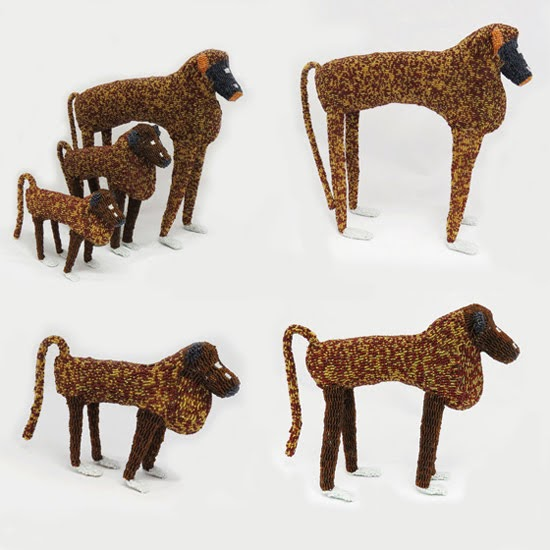 Safari Fusion blog | Monkey business | A troop of handcrafted Bead Baboon sculptures [objects] by Monkeybiz