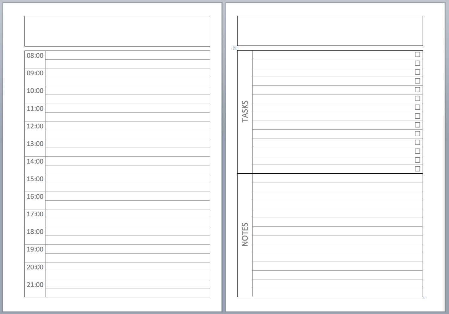 18 February 2012  Planner Page Templates