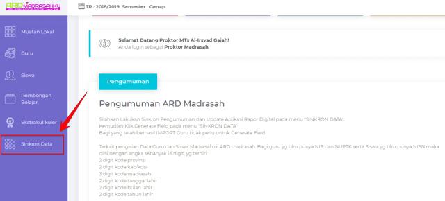 Cara Update Aplikasi Raport Digital ( ARD ), cara update ard 2.1, update ard 2.3