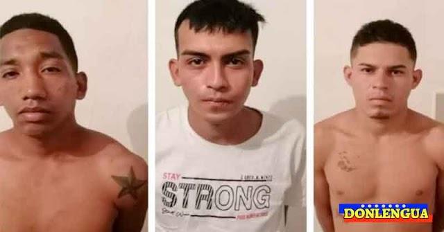 BARQUISIMETO | Se fugaron estos tres peligrosos presos de un calabozo de la PNB