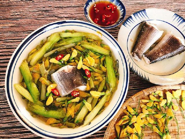 Canh điên điển nấu cá rô đồng