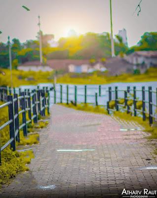 Sun Set New CB Background of Atharv Raut Free Stock Image